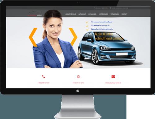 Webdesign Autoankauf Werne